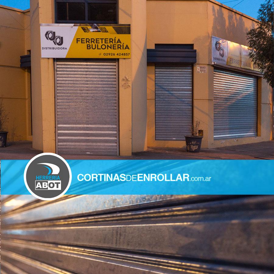 Cortina Ciega en Comercio - Cortinas de Enrollar - Herrería Abot