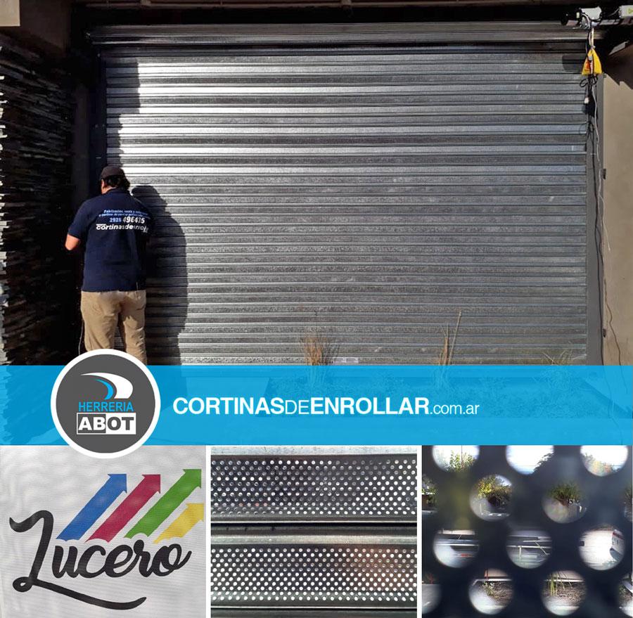 Cortina Microperforada en Comercio - Cortinas de Enrollar - Herrería Abot