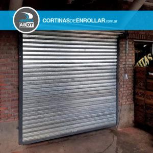 Cortina Galvanizada Ciega para Comercio en Bahía Blanca - Buenos Aires - Cortinas de Enrollar - Herrería Abot