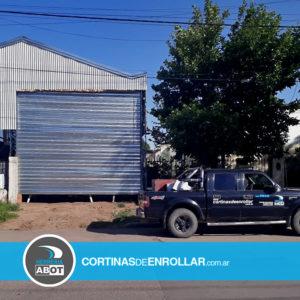 Cortina Galvanizada Ciega para Galpón en General Pico - La Pampa - Cortinas de Enrollar - Herrería Abot