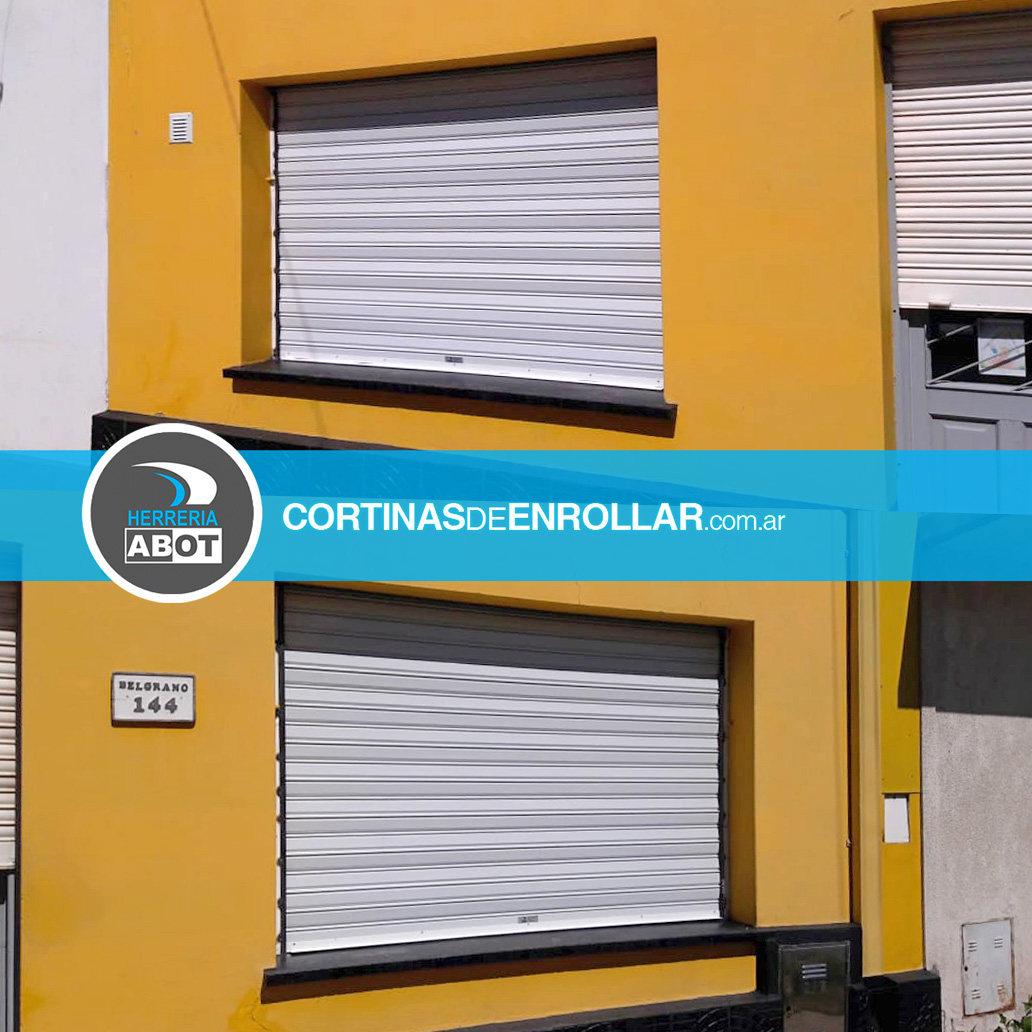 Cortina de Enrollar Ciega Blanca para Comercio (Arauz, La Pampa)