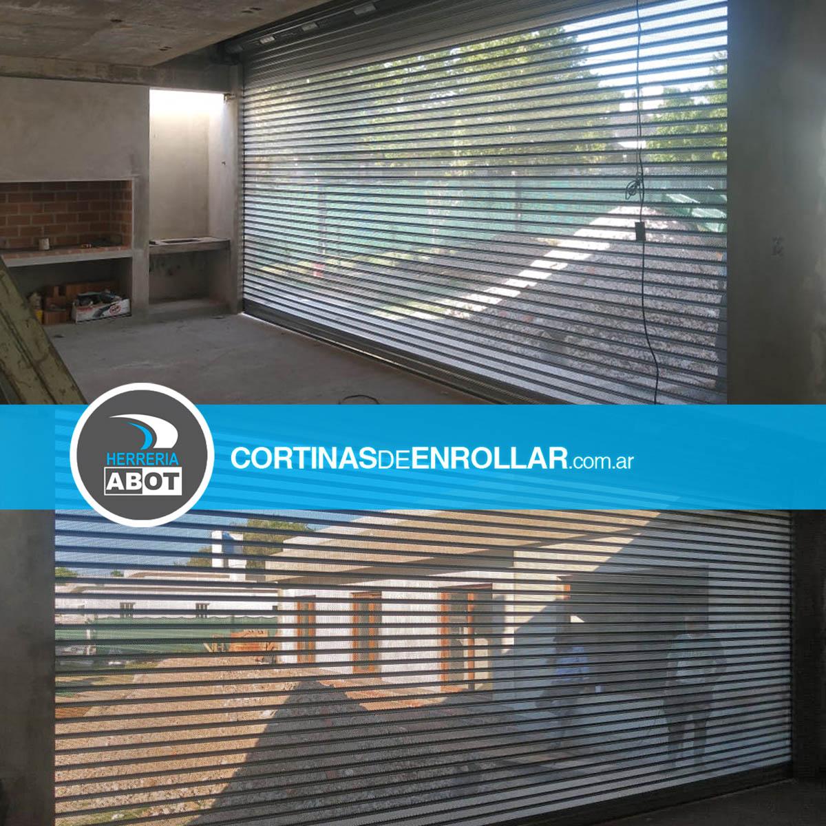 Cortinas de Enrollar Galvanizadas Microperforadas para Quincho (General Pico, La Pampa)