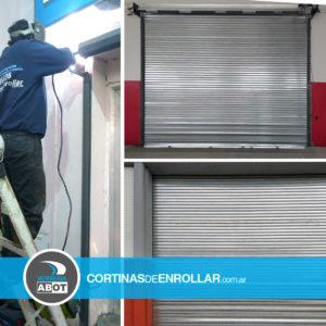 Cortina de Enrollar Galvanizada Ciega para local comercial (Stroeder, Buenos Aires)